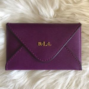 Ralph Lauren Envelope Card Case - Purple